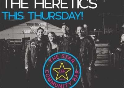The Heretics - Show Flyer